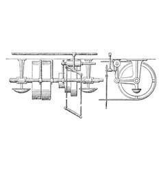 Pneumatic belt shifter vintage vector