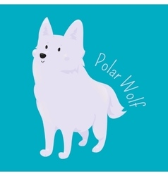 Polar wolf child fun pattern icon vector