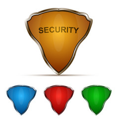 protection shield set vector image