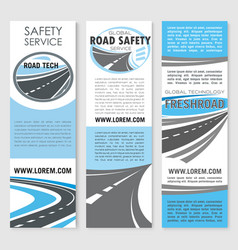 safety road construction service banners vector image vector image
