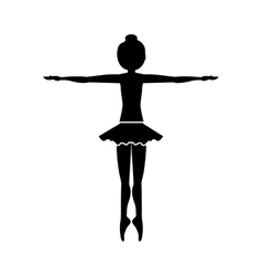 Silhouette dancer fifth position entrechat vector
