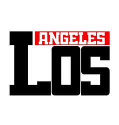 T shirt typography Los Angeles CA white vector image vector image