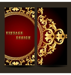 Template for design of the booklet with vintage go vector