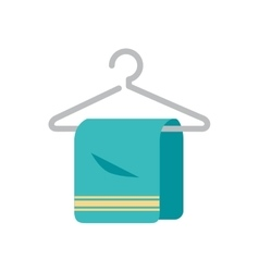 towel hanging in hook isolated icon vector image