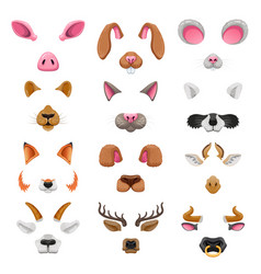 video chat animal faces effects vector image vector image