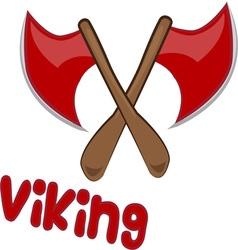 Viking axe vector