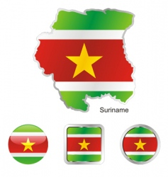 Suriname vector