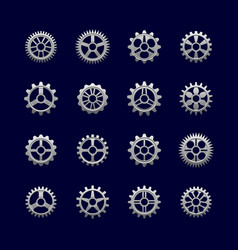 Metal gears and cogwheels for transmission vector