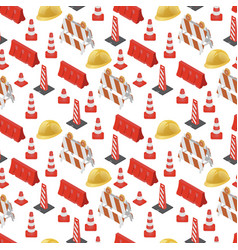 under construction road pattern vector image