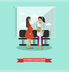 Gynecology consultation in vector