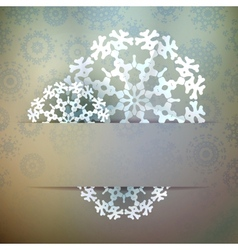 Christmas snowflake applique  eps10 vector