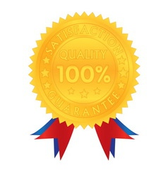 100 percent guarantee satisfaction quality vector