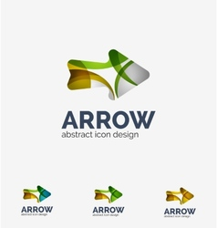 Clean moden wave design arrow logo vector