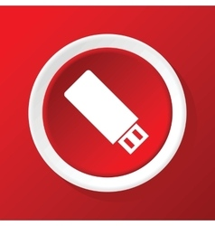 Usb icon on red vector