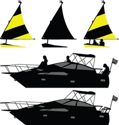 Ship and yacht vector
