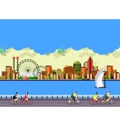 Modern city landscape vector image