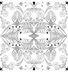 abstract black seamless pattern on white vector image