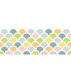 Abstract colorful fishscale horizontal seamless vector