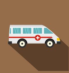 Ambulance car icon flat style vector