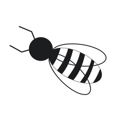 Bee work cooperation image pictogram vector
