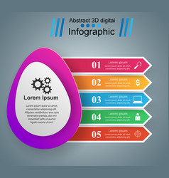 Business infographics origami egg vector