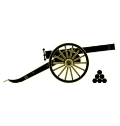 cannon 18 th century vector image