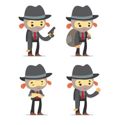 cartoon gangsters vector image vector image