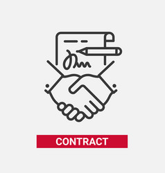 contract - modern line design single icon vector image vector image