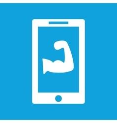 Gym app icon simple vector