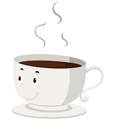 Hot coffee in a cup vector