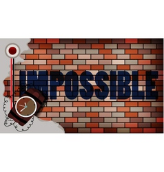 impossible concept vector image vector image