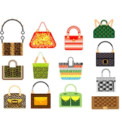 Leather handbags vector image