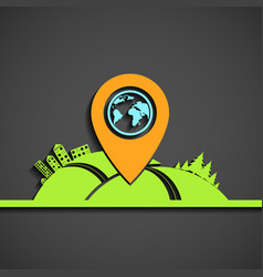 location on the map vector image