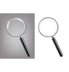 Magnifiers set vector