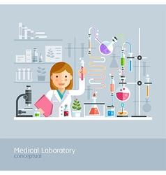 Medical laboratory conceptual vector