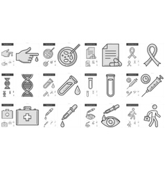 Medicine line icon set vector