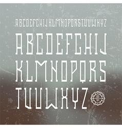 Medium serif font in retro style vector
