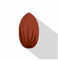 Pecan nut icon flat style vector