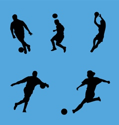soccer collection vector image vector image