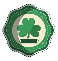 Sticker clover plant decoration design vector