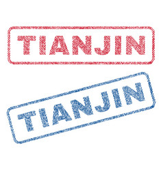 Tianjin textile stamps vector