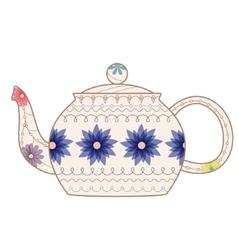 vintage teapot vector image