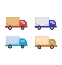 Delivery truck icon flat style lorry isolated vector