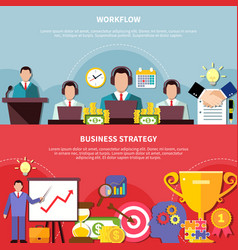 Financial strategy banners collection vector