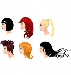Hairstyle set vector