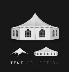 Set of tents vector image