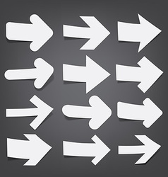 White paper arrows vector