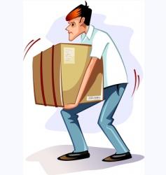 shopping men vector image