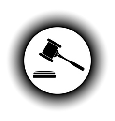 Judge gavel button vector