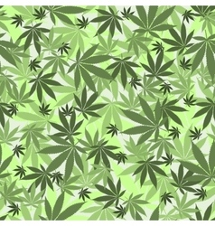 Seamless cannabis pattern vector